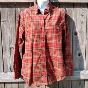 Ralph Lauren Red and Tan Plaid Shirt Shacket